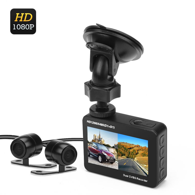Wholesale Ordro Q603 Dual Cam Car DVR (1/4 Inch CMOS, 2.7 Inch TFT LCD Display, 150 Degree Wide Angle)