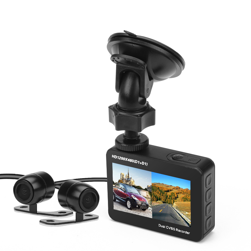Ordro Q603 Dual Cam Car DVR (1/4 Inch CMOS, 2.7 Inch TFT LCD Display, 150 Degree Wide Angle)