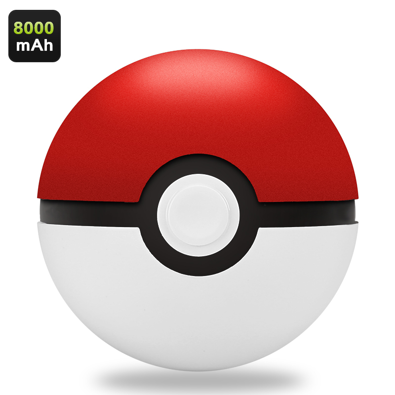 Wholesale Pokemon Power Bank (Authentic Poke Ball Design, 8000mAh, Dual USB)