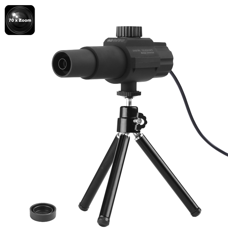 Wholesale Portable Digital USB Telescope with Tripod and 2MP Camera (70x Zoom, Motion Detection, Video Recording)