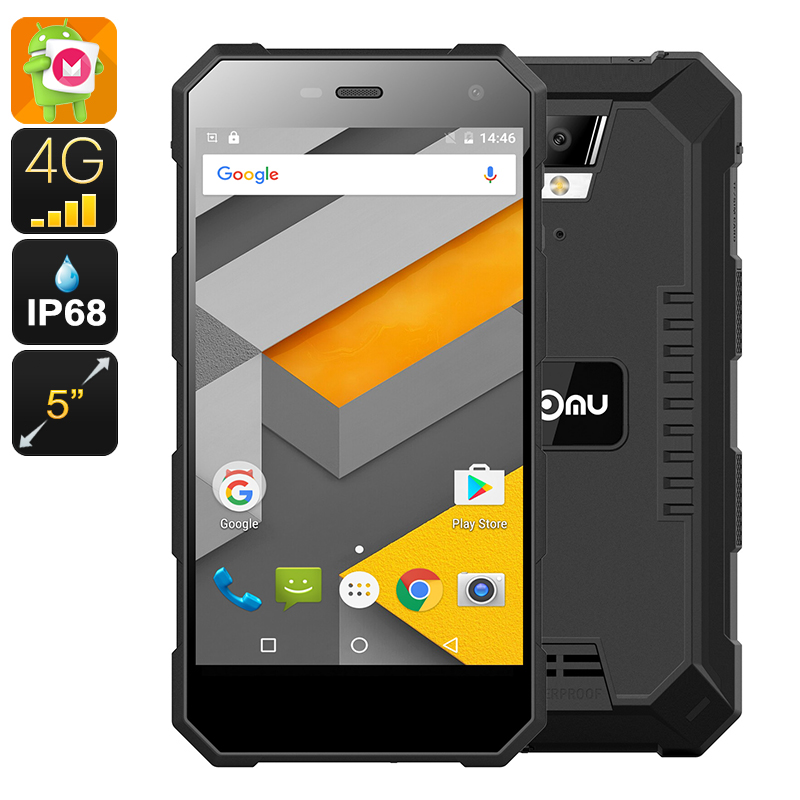 Wholesale NOMU S10 Rugged 4G Dual IMEI Android Phone (IP68 Waterproof, Quad-Core CPU, 5 Inch IPS Screen, 16GB, Black)