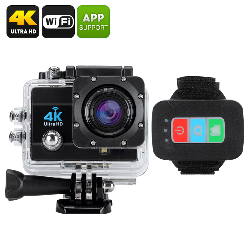 Wholesale Q3H IP68 Waterproof 4K Sports Camera (Wi-Fi, 16MP, 4x Digital Zoom, 170 Degree Wide Angle, Black)