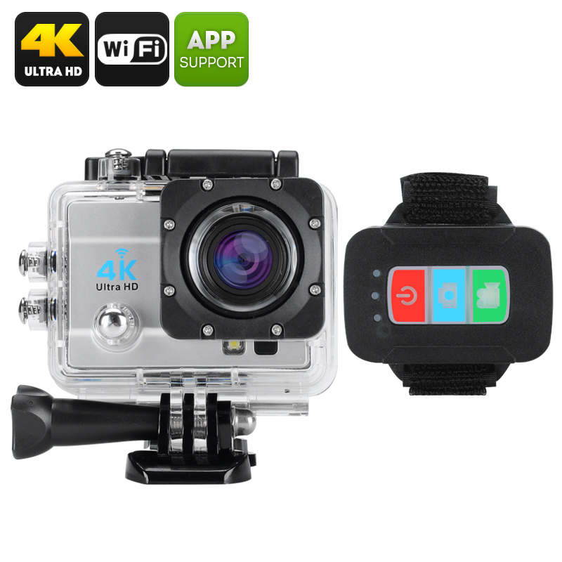 Wholesale Q3H IP68 Waterproof 4K Sports Camera (Wi-Fi, 16MP, 4x Digital Zoom, 170 Degree Wide Angle, Silver)