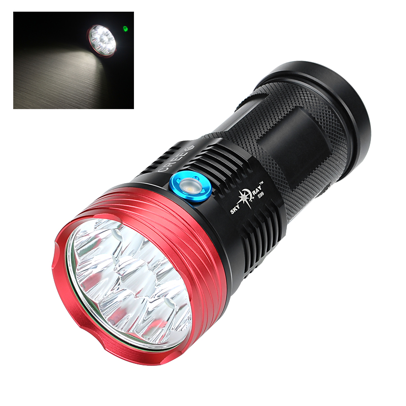 Wholesale Skyray S99 CREE LED Flashlight (9 CREE LEDs, 9600 Lumen, Aluminum Body, 3 Modes, Range 100 to 200 Meters)