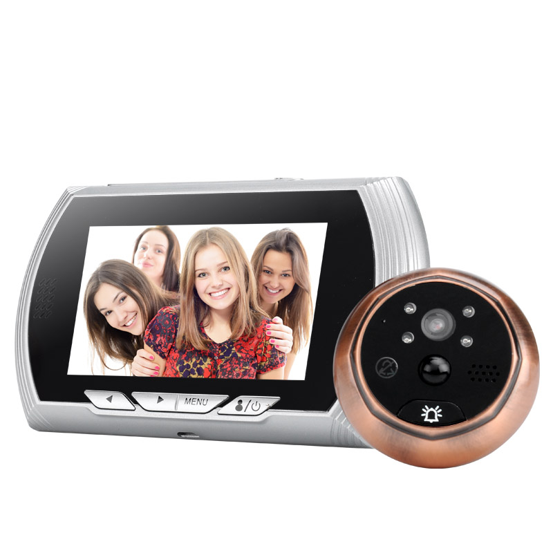 Wholesale Smart Digital Doorbell with 720p Camera and 4.3 Inch Screen (Night Vision, Motion Detection, 1800mAh, Silver)