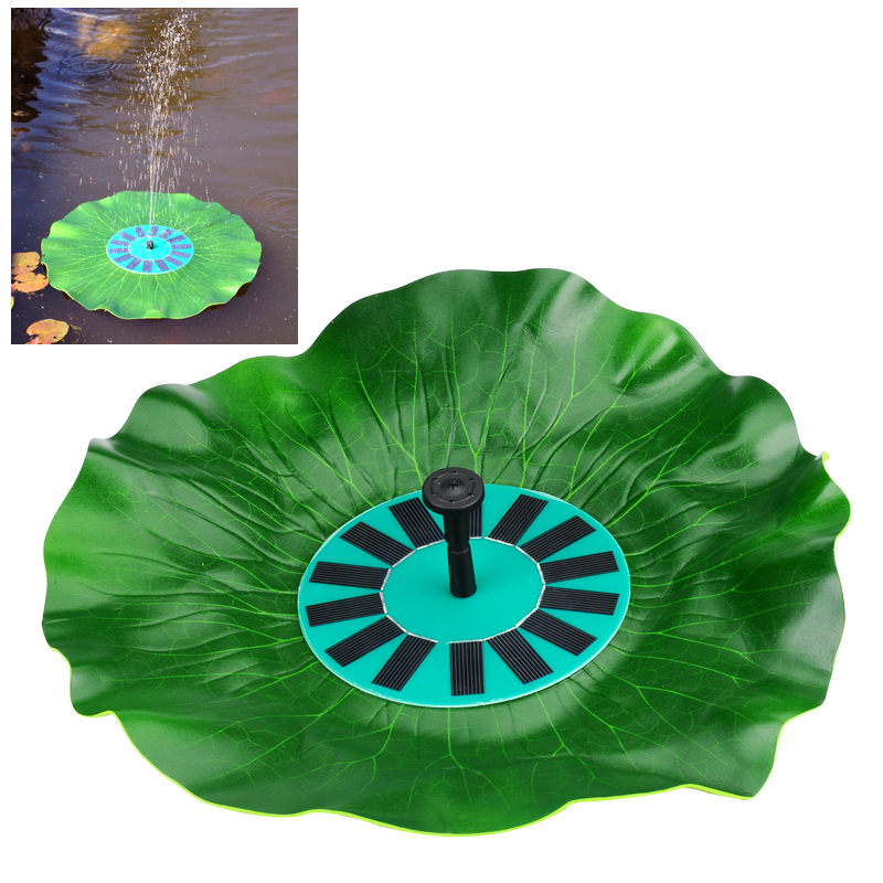 Wholesale Lotus Leaf - Solar Decorative Fountain with Water Pump (Floating, Submersible, 7V 1.4W)
