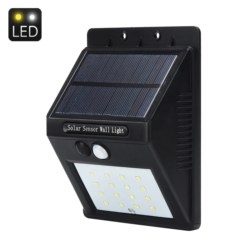 Wholesale Solar Outdoor LED Security Light (PIR, 320 Lumen, 2200mAh)