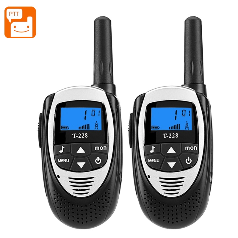 Wholesale T-228 Outdoor Walkie Talkie Pair (4KM Range, 22 Channels, 99 Sub Codes, Belt Clip, Black)