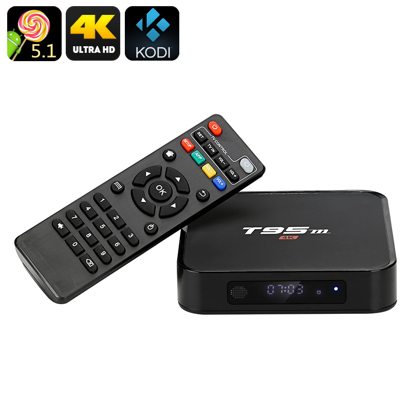 Wholesale T95m Android TV Box (Kodi 16.0, 4K x 2K, Wi-Fi, Amlogic S905 CPU, Optical SPDIF, OTG, Miracast, Airplay, DLNA)