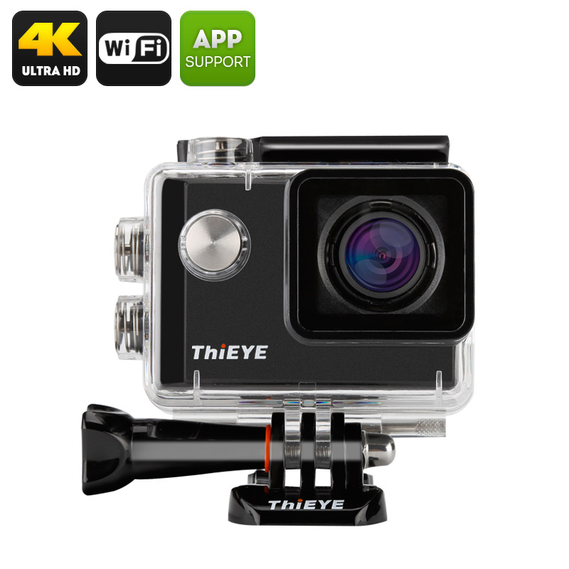 Wholesale ThiEYE i60 4K 12MP Action Camera with 40m Waterproof Case (152 Degree Wide Angle, Loop Recording, Black)