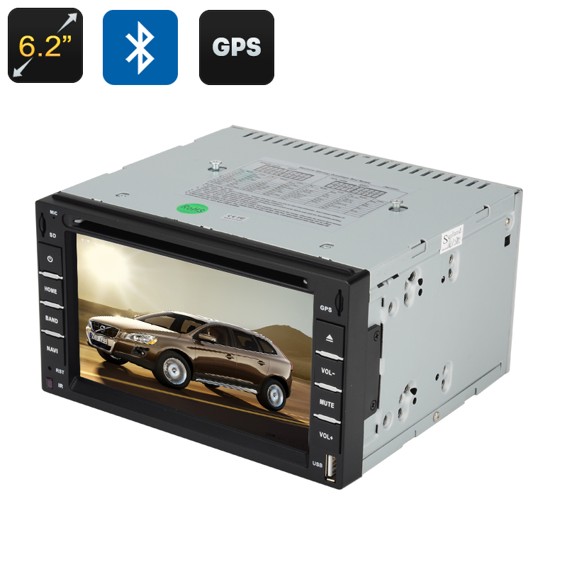 Wholesale 6.2 Inch Touchscreen GPS 2 DIN Car DVD Player (Bluetooth Handsfree, FM Radio, Windows CE)