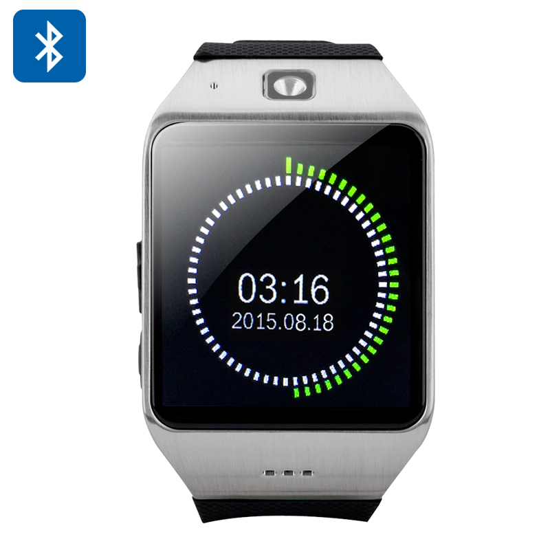 Wholesale Uhappy UW1 Bluetooth Phone Watch (1.54 Inch, Pedometer, Sedentary Reminder, NFC, Silver)