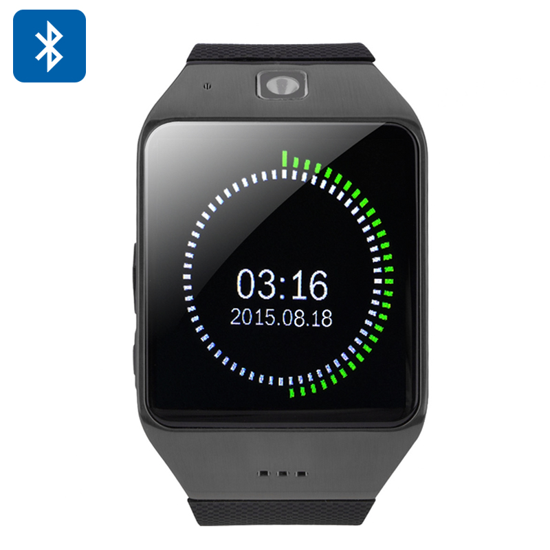 Wholesale Uhappy UW1 Bluetooth Phone Watch (1.54 Inch, Pedometer, Sedentary Reminder, NFC, Black)