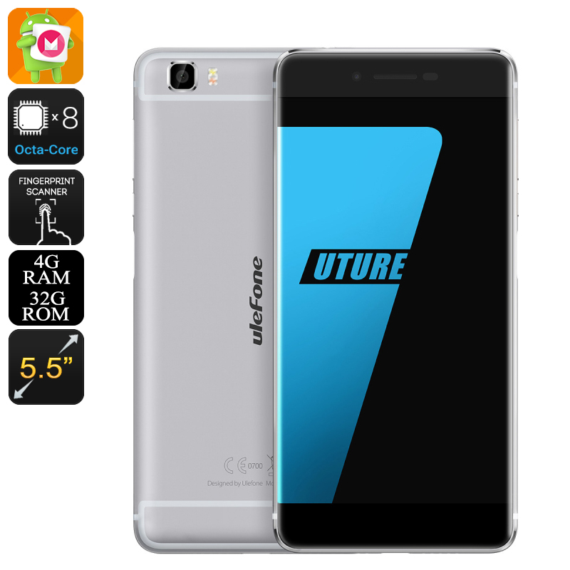 Wholesale Ulefone Future Smartphone (5.5 Inch Full HD, Octa Core CPU, 4GB RAM, Grey)
