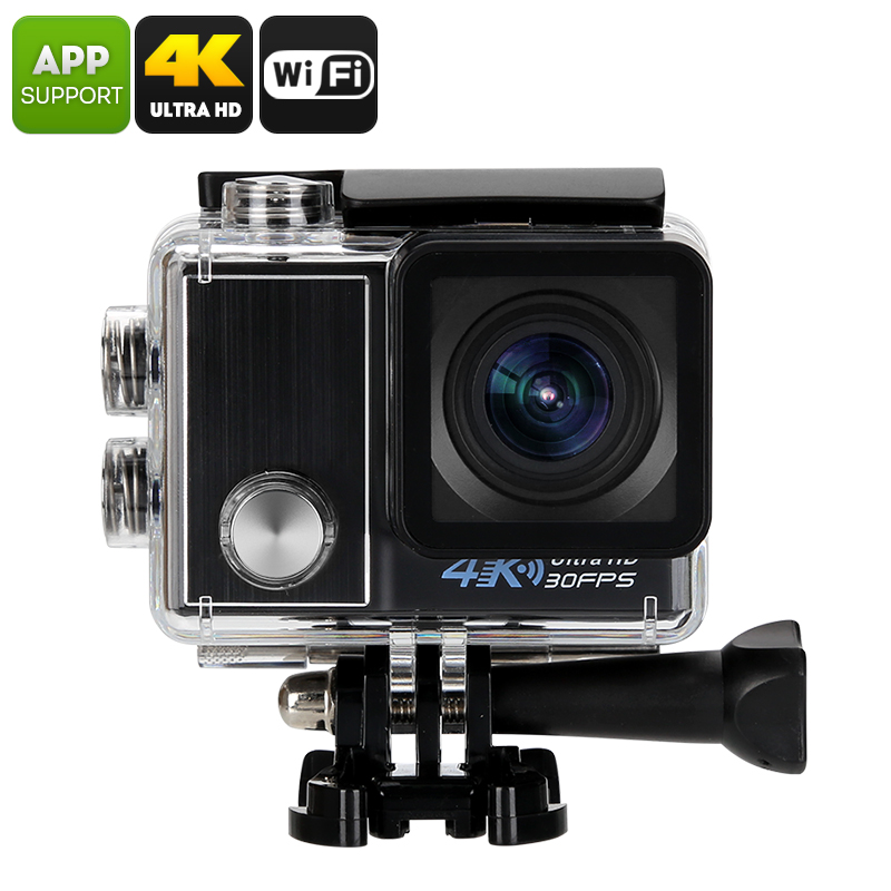 Wholesale Ultra-HD 4K Wi-Fi Sports Action Camera (IP68 Waterproof, 1/2 Inch CMOS, 170 Degree Wide Angle, 4x Zoom, Black)
