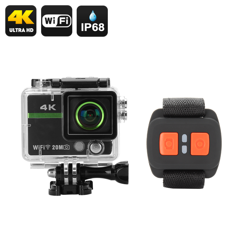Wholesale Clarion - Ultra HD 4K Wi-Fi Sports Action Camera (20MP, Wrist Re