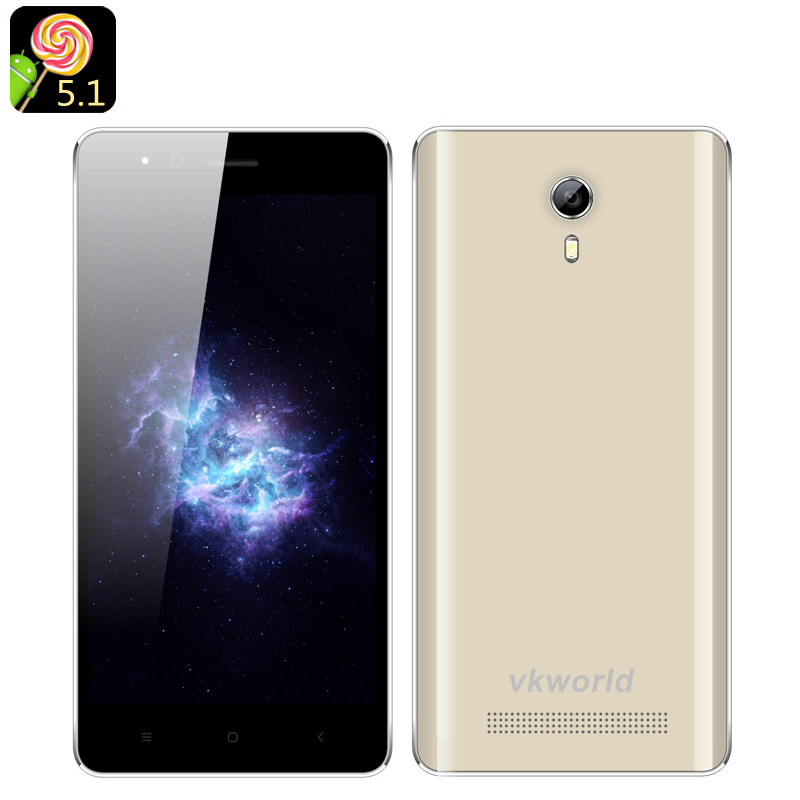 Wholesale VKWorld F1 4.5 Inch Android 5.1 Smartphone (Dual SIM, Quad Core CPU, Bluetooth 4.0, Smart Wake, Gold)