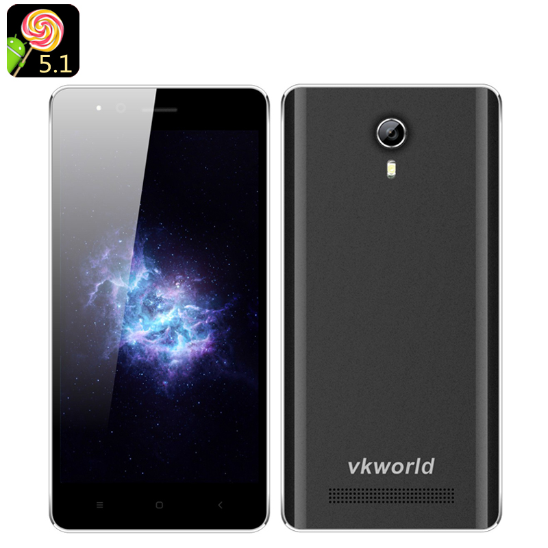 Wholesale VKWorld F1 4.5 Inch Android 5.1 Smartphone (Dual SIM, Quad Core CPU, Bluetooth 4.0, Smart Wake, Black)