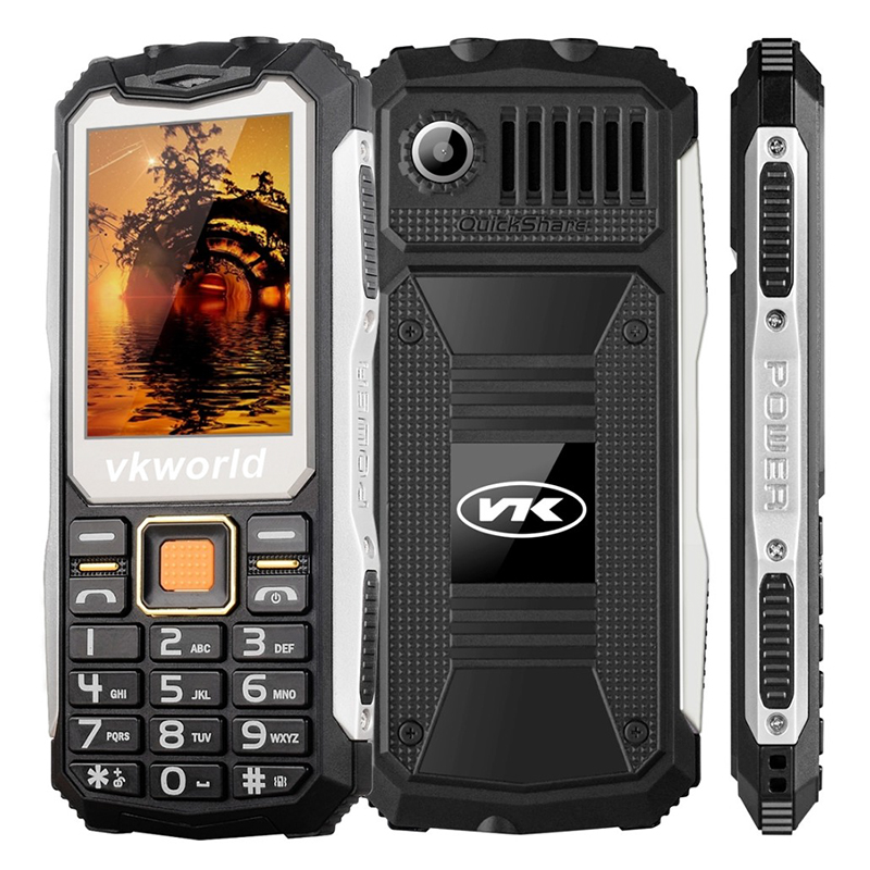 Wholesale VKWorld Stone V3S Rugged Phone with Dual LED Flashlight (Dual IM