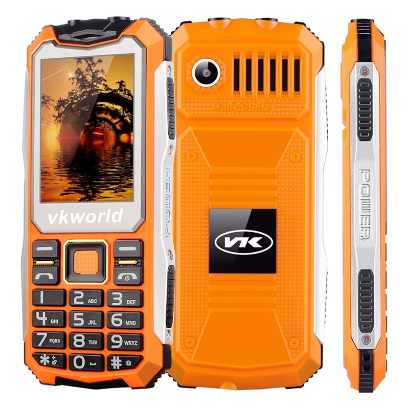 Wholesale VKWorld Stone V3S Rugged Phone with Dual LED Flashlight (Dual IMEI, IP65 Waterproof, Orange)