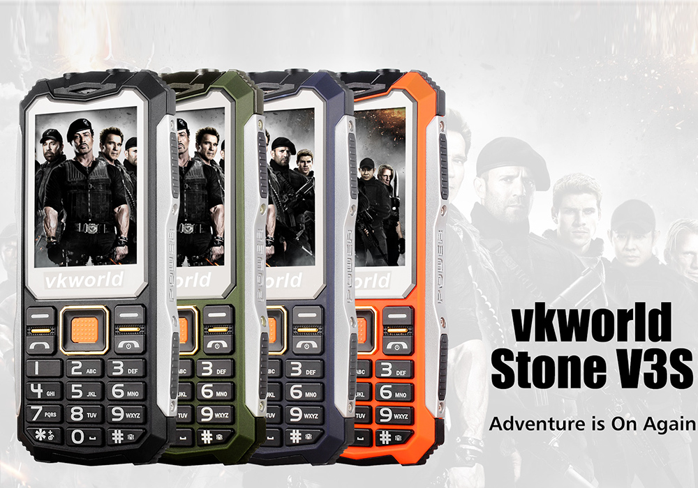 Vkworld Stone V3s Rugged Phone With Dual Led Flashlight