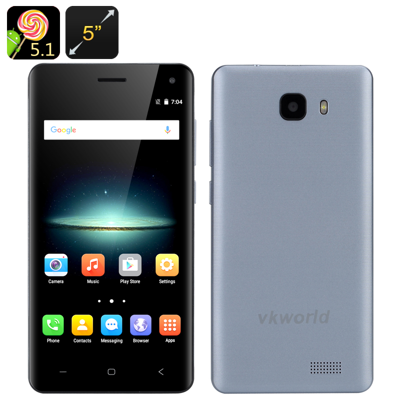 Wholesale VKWorld T5 5 Inch HD Android Smartphone (Gesture Sensor, Smart Wake, Quad Core CPU, 2GB RAM, 16GB, Blue)