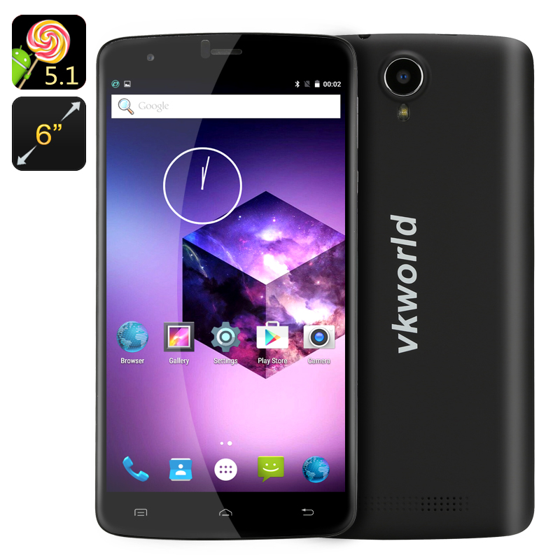 Wholesale VKWorld T6 6 Inch Android Smartphone (4G Dual SIM, Smart Wake, Gesture Sensing, 16GB, Black)