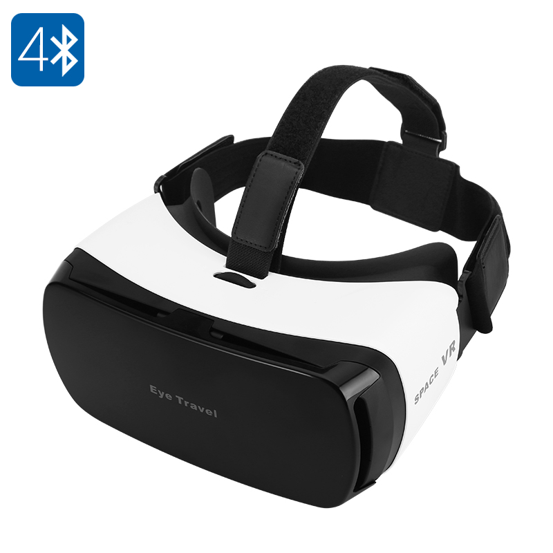 Wholesale Bluetooth V4.0 VR 3D Glasses with 110 Degree FOV and Head Band - For 3.5 To 5.5 Inch Smartphones