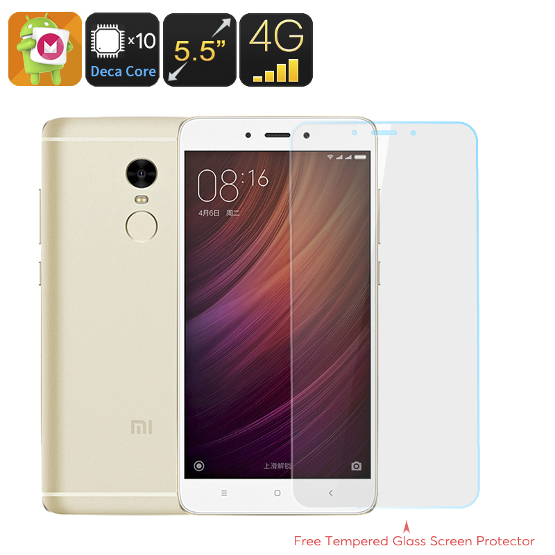 Wholesale Xiaomi Redmi Note 4 Deca Core Android 6.0 Smartphone (5.5 Inch FHD, 3GB RAM, Fingerprint, 64GB, Gold)