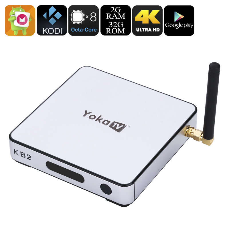 Wholesale Yoka TV KB2 Android 6.0 TV Box (4K, Octa-Core CPU, 2GB RAM, Styl