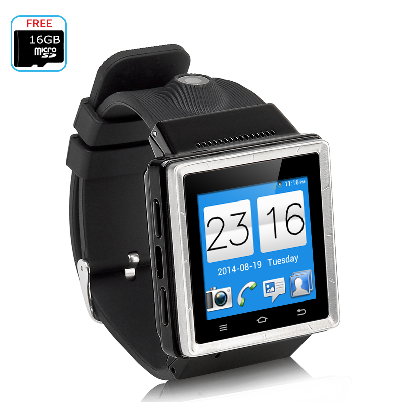 Wholesale ZGPAX S6 3G Android Watch Phone (Dual Core CPU, GPS Navigation, Wi-Fi, 2MP Camera, Black)