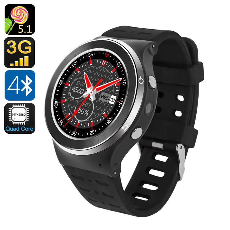 Wholesale ZGPAX S99 1.33 Inch Android 5.1 Sport Smart Watch Phone (3G, Quad Core CPU, Pedometer, Heart Rate Monitor)