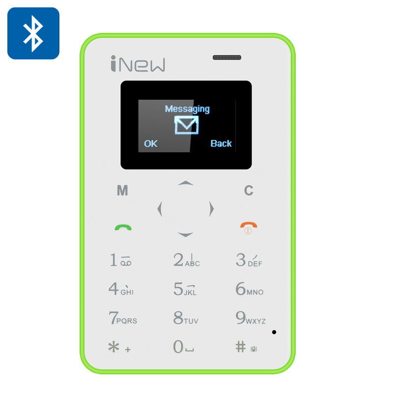 Wholesale Mini 1 Ultrathin Small Phone (Quad Band GSM, Bluetooth Sync, Remote Camera, Green)