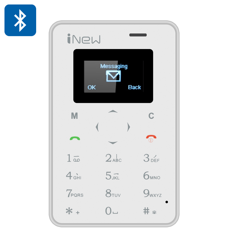 Wholesale Mini 1 Ultrathin Small Phone (Quad Band GSM, Bluetooth Sync, Remote Camera, White)