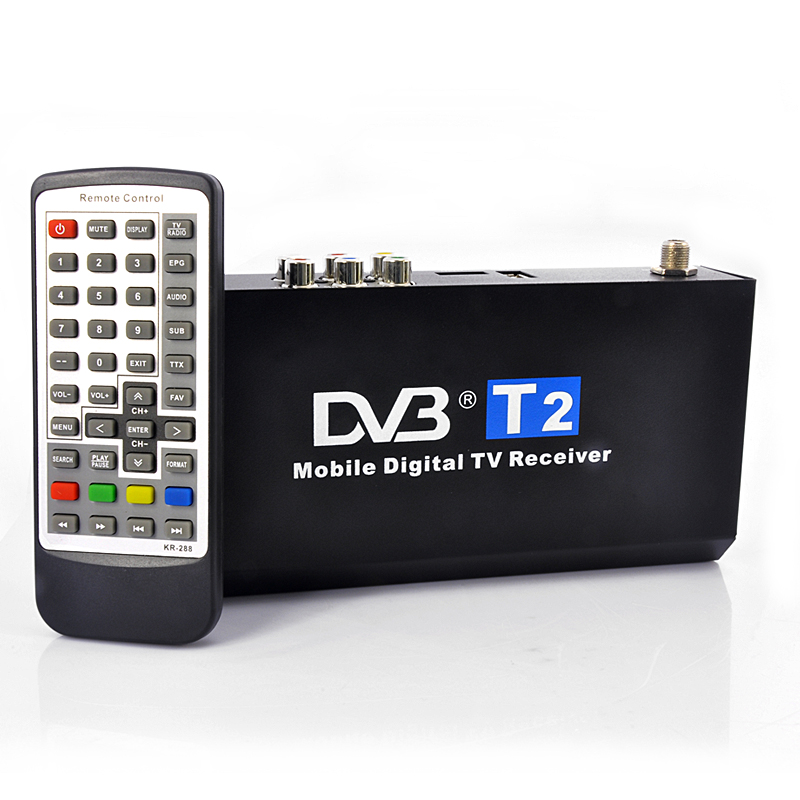 Wholesale 1080P HD Car DVB-T2 Digital TV Receiver (H.264, HDMI, Remote Control)