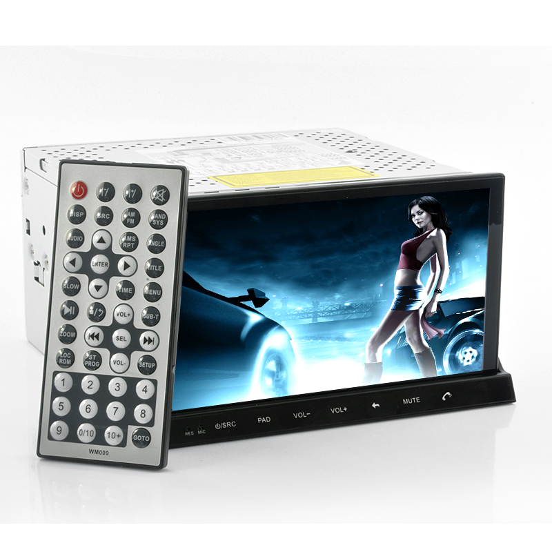 road rider 2 din car dvd player with 7 detachable. Black Bedroom Furniture Sets. Home Design Ideas