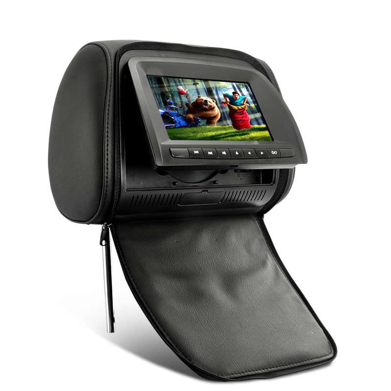 Inch LCD Car Headrest DVD Player With Intelligent Touch Button And