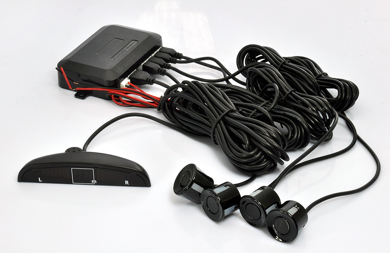 Vehicle Parking Sensor with 4 Sensors and LED Display (Distance Alarm, Easy to Install)