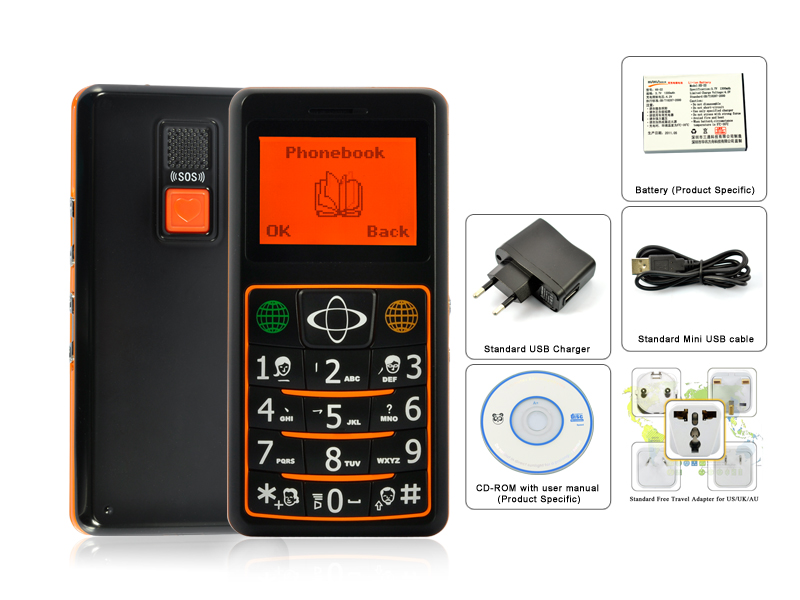 Quadband Gsm Senior Cell Phone With Gps Tracking