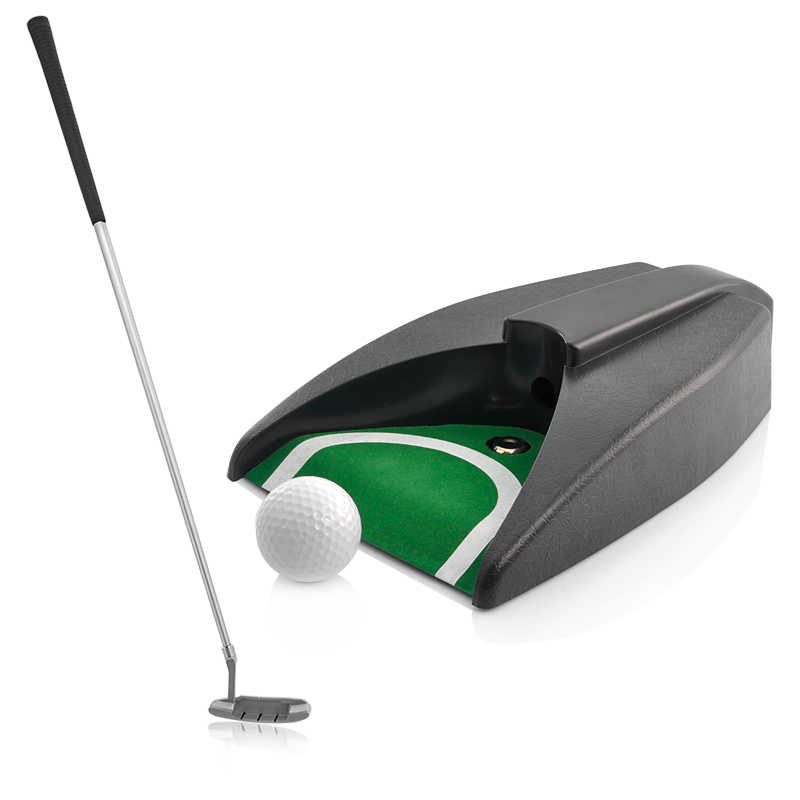 Wholesale Indoor Golf Set (Golf Ball + Zink Alloy Putter + Automatic Ball Return Putting Machine)