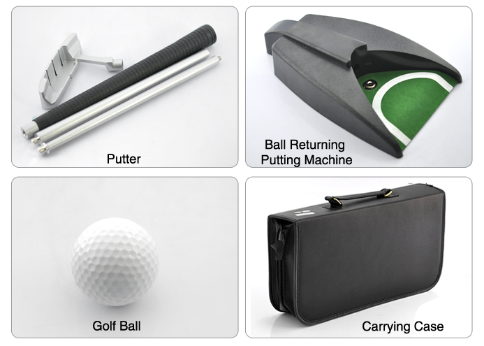Indoor Golf Set (Golf Ball + Zink Alloy Putter + Automatic Ball ...