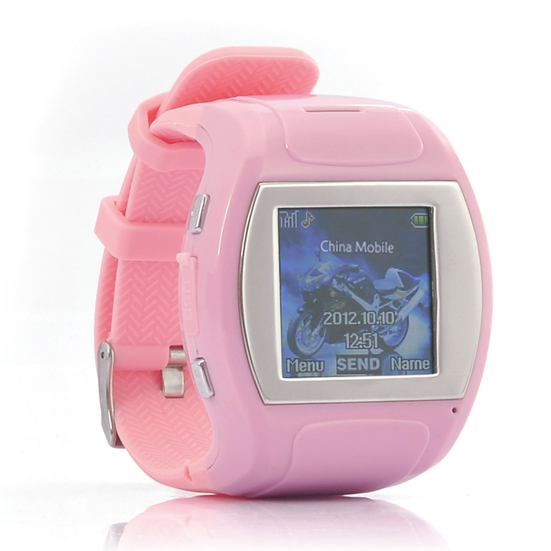 Wholesale Bubble - Cute Pink Cell Phone Watch for Girls/Ladies (1.5 Inch Screen, Bluetooth)