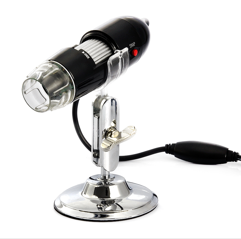 Wholesale USB Digital Microscope (200x Zoom, 640x480, 4 LEDs)