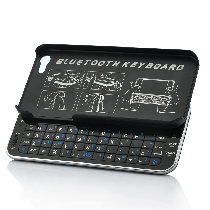 Wholesale Sliding QWERTY Bluetooth Keyboard for iPhone 5 - Thin Design