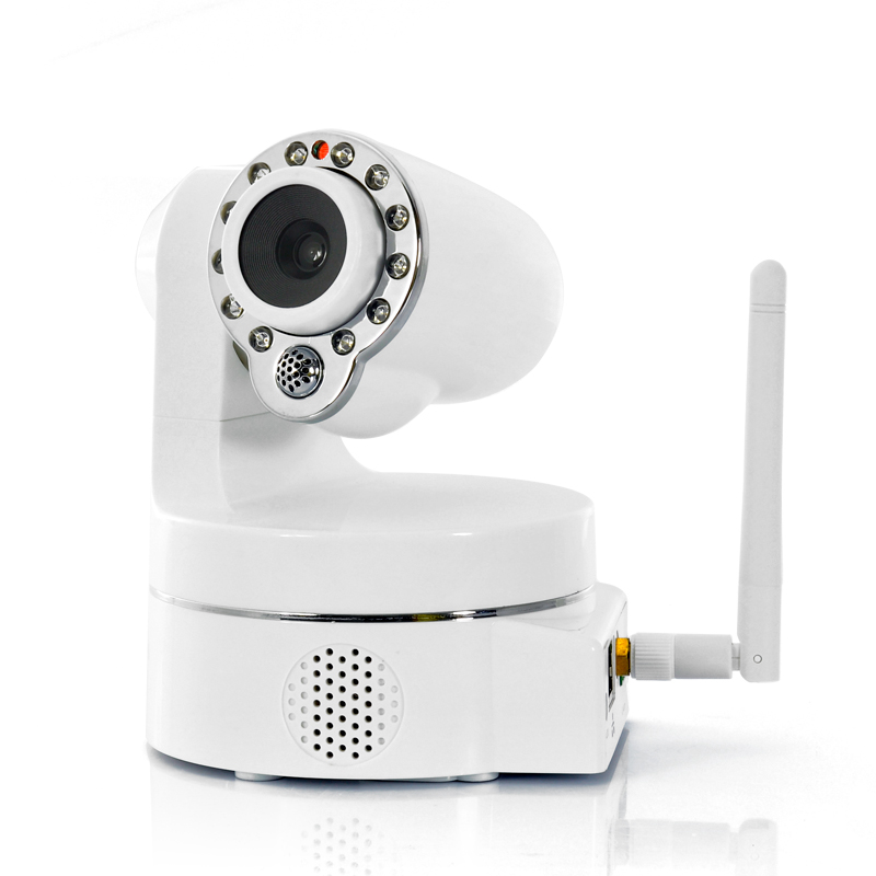 "Wholesale 1/5"" CMOS Wireless Security Camera (Smartphone PTZ Control, 12 IR LEDs, Night Vision)"
