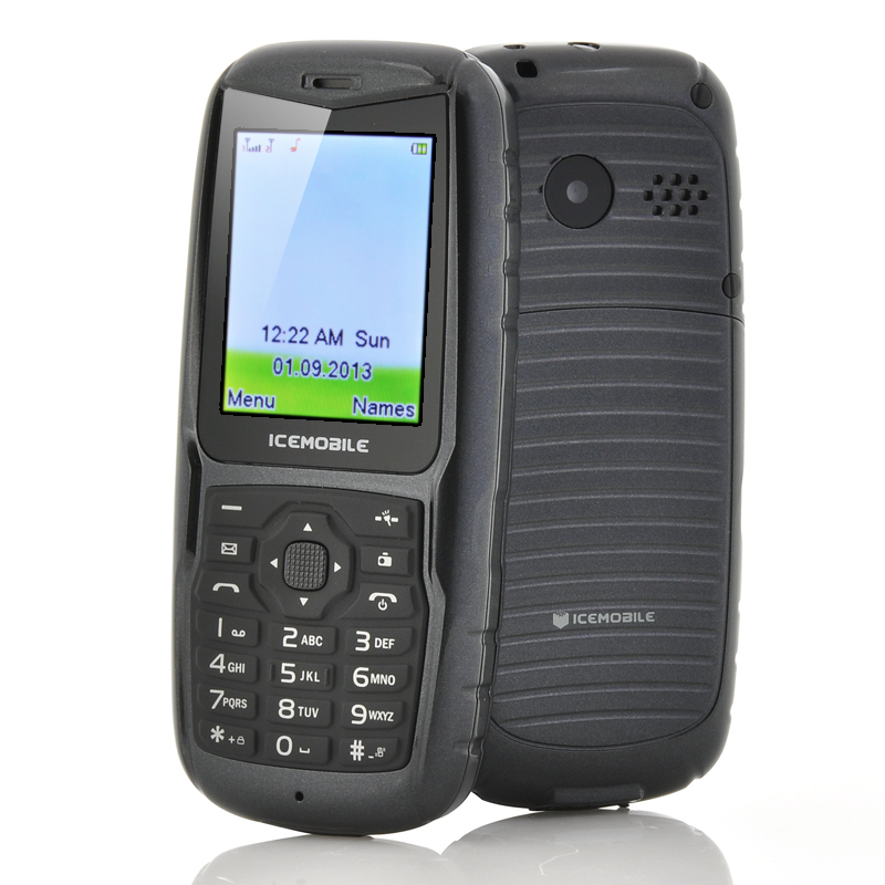 Wholesale Icemobile Hydro - 2 Inch IP54 Water Resistant Phone (Dual SIM, Floats on Water, Black)