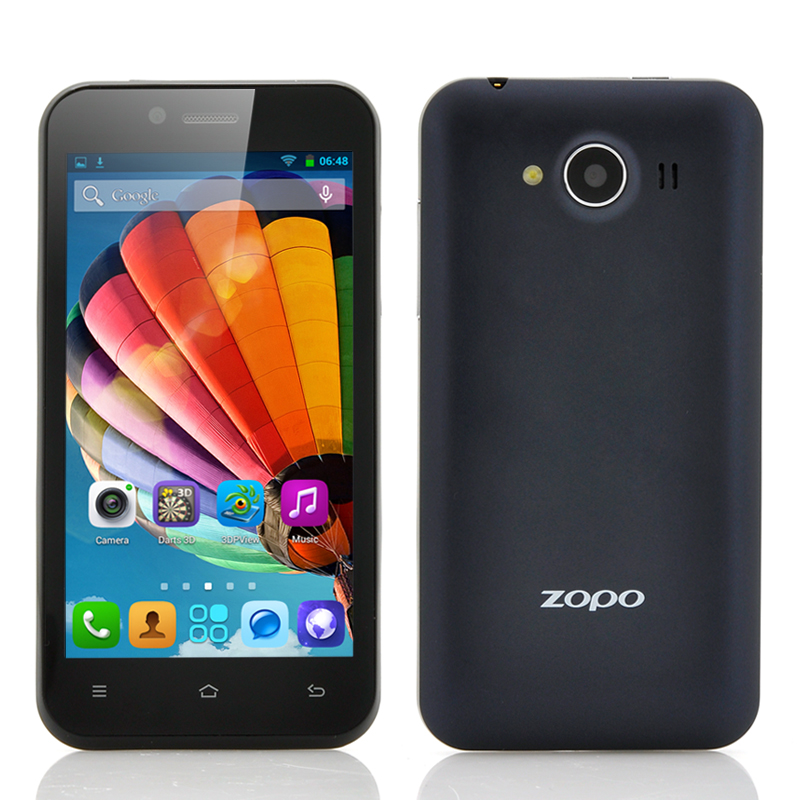 Wholesale ZOPO ZP600+ - 4.3 Inch 3D Android Phone (Sharp ASV 3D Screen, 1.3GHz Quad Core CPU, GPS, OTG, Black)