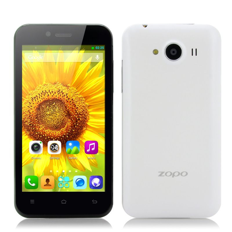 Wholesale ZOPO ZP600+ - 4.3 Inch 3D Android Phone (Sharp ASV 3D Screen, 1.3GHz Quad Core CPU, GPS, OTG, White)