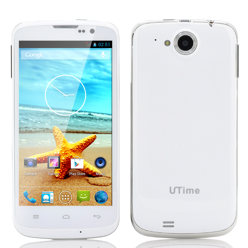 Wholesale UTime U100S - 4.6 Inch Android 4.2 Phone (1.3GHz Quad Core CPU, 854x480, White)