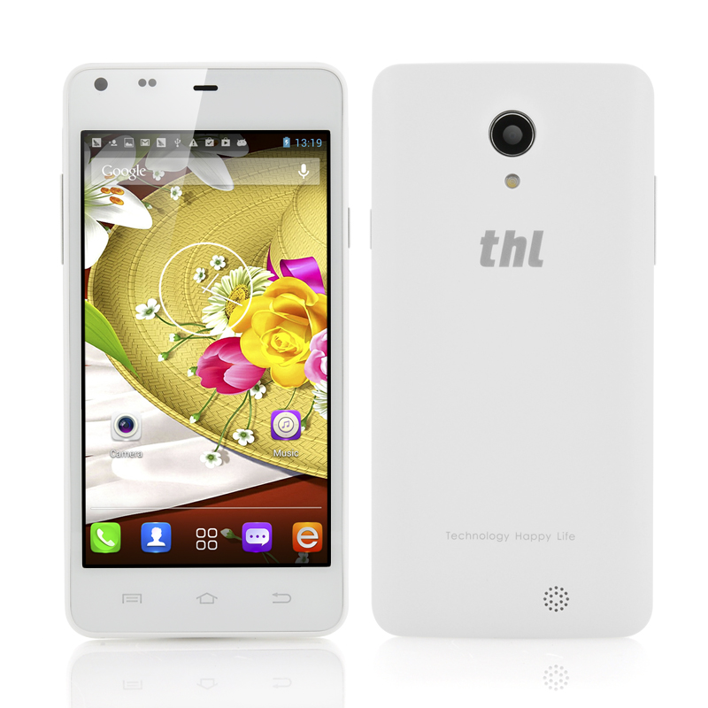 Wholesale thl T5 - 4.7 Inch 3G Android Phone (1.3GHz Dual Core CPU, qHD IPS Screen, White)